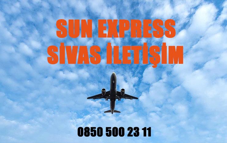 sivas sun express uçak bileti iletişim