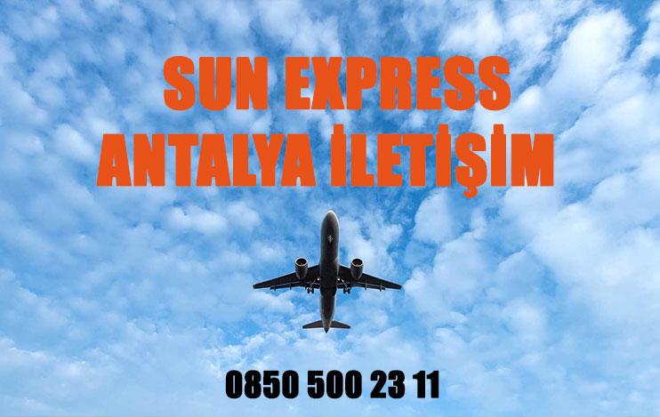 antalya sun express uçak bileti iletişim