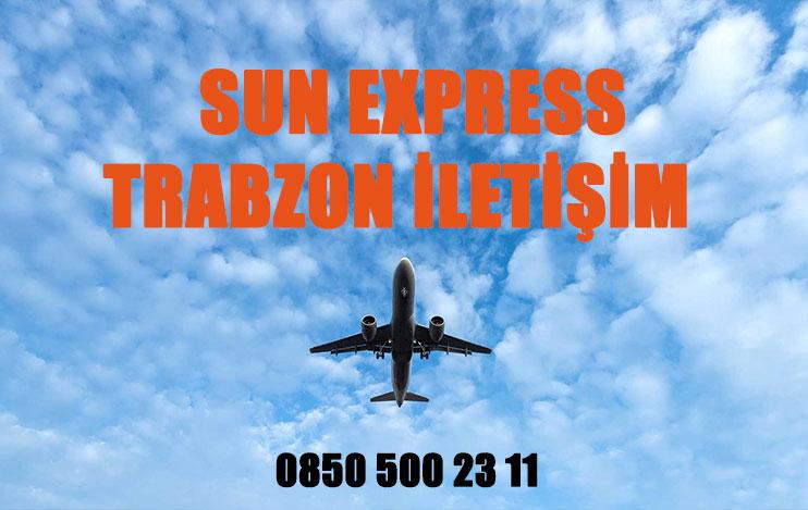 trabzon sun express uçak bileti iletişim
