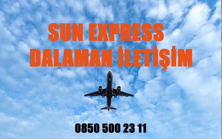 dalaman sun express uçak bileti iletişim