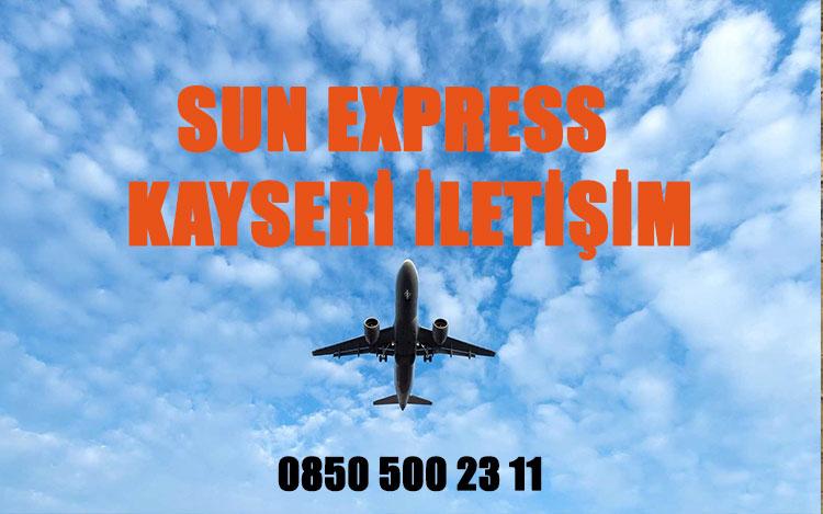 kayseri sun express uçak bileti iletişim