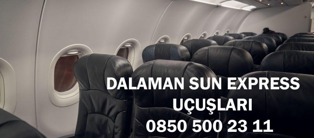dalaman sun express uçuşları