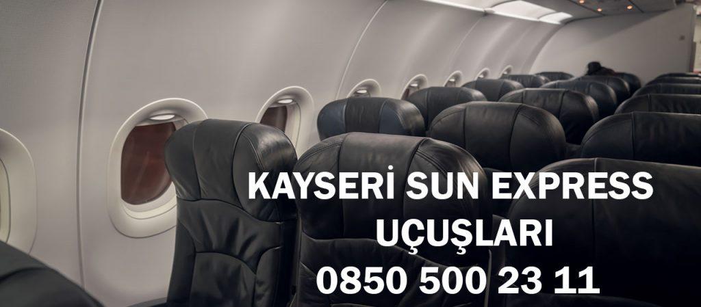 kayseri sun express uçuşları