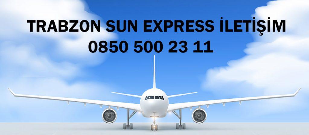 trabzon sun express iletişim